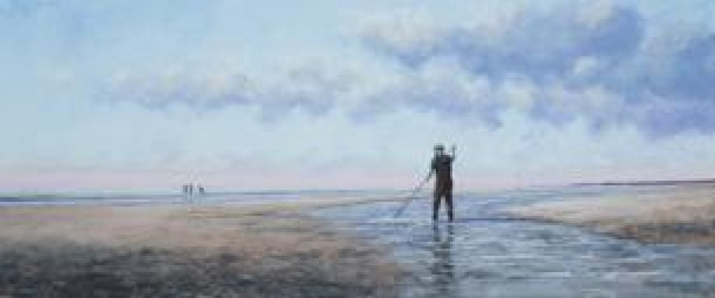 """Working the Tide Run"" 24x56 (SOLD)"