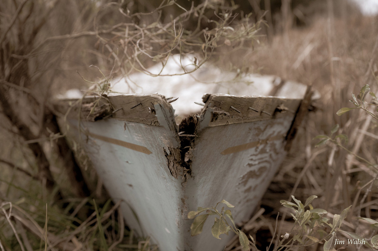 Abandoned Boat by Jim Walsh