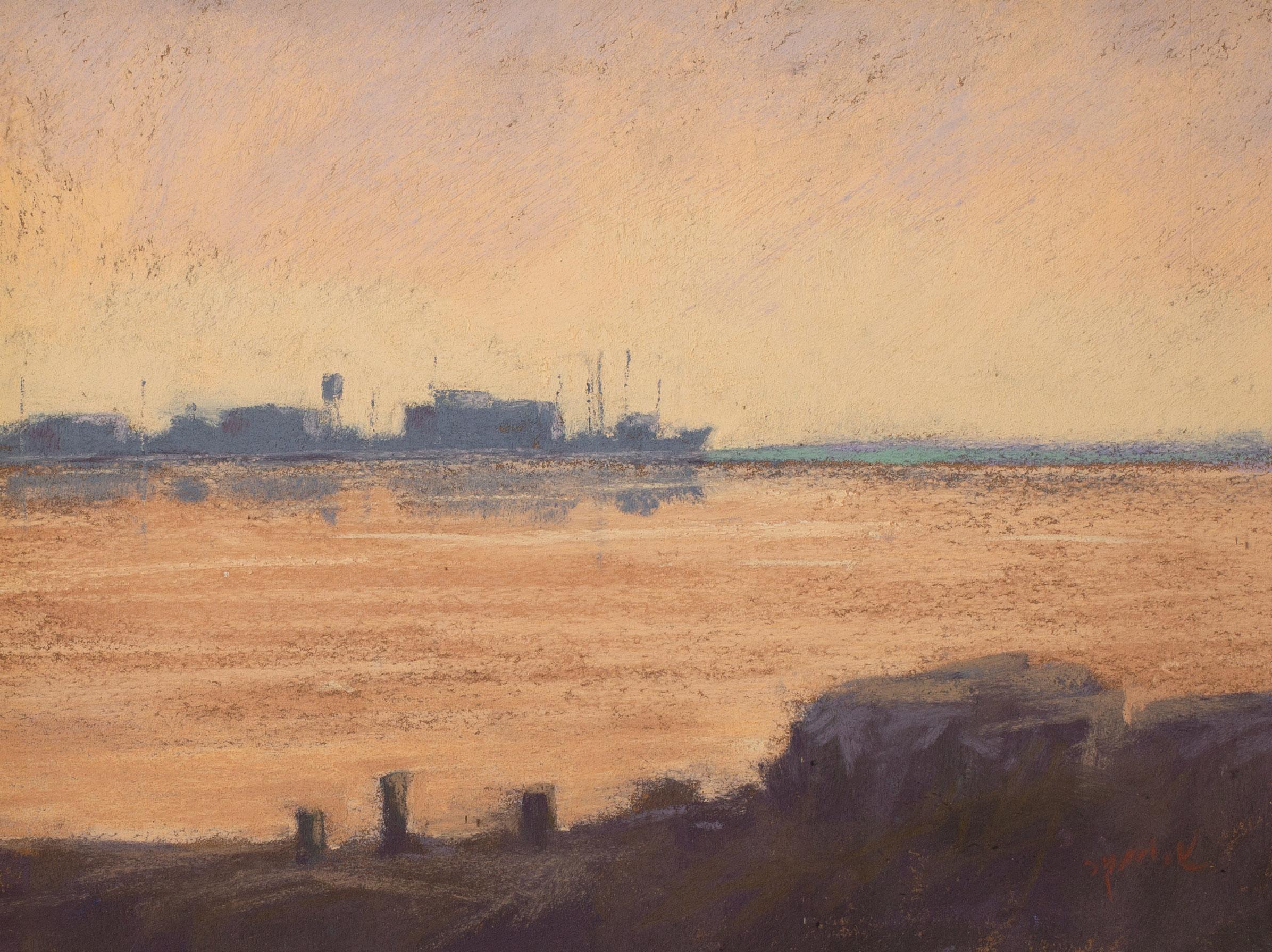 """Early Morning Harbor"" 9x12"